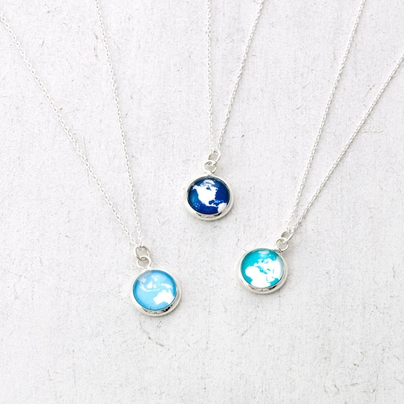 Tiny Globe Necklace