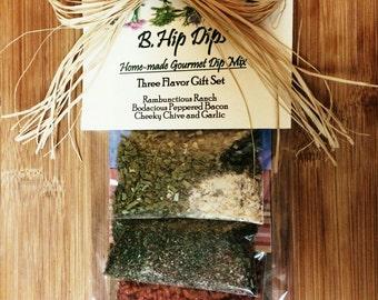 B.Hip Dips Gourmet Dip Mixes 3 Flavor Gift Set