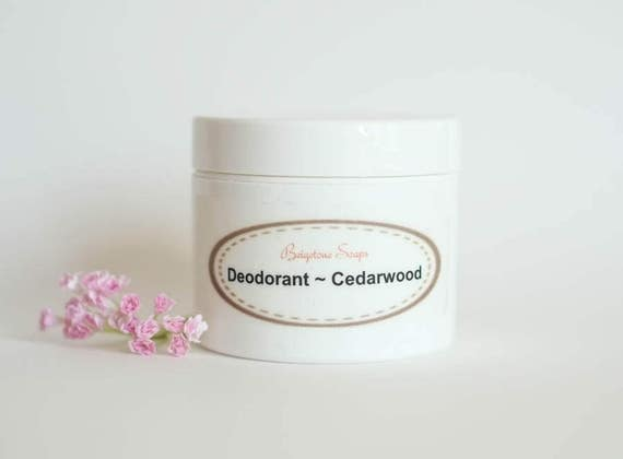 Creamy Cedarwood Deodorant | 2oz Jar | Aluminum and Paraben Free | Cedarwood, Orange, Tea Tree Essential Oils | Lasts up to 6 Months!