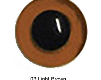 10 Pair 8mm Plastic Safety Eyes 03 Light Brown Article LE10 Round Pupils Metal Washers Teddy Bear Puppet Plush Toy Stuffed Animal Plushie