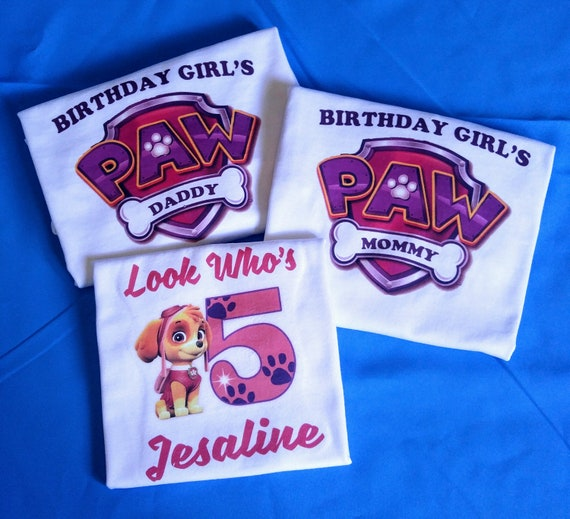 Personalized Paw Patrol Birthday Shirt And Parents
