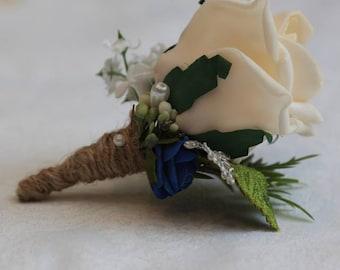 Wedding vintage buttonholes /corsage