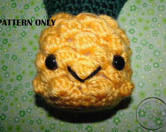 Pineapple Cutie Pattern - Crochet Pineapple Pattern - Pineapple Amigurumi Pattern - Pineapple Stuffie Pattern - Pineapple Plushie Pattern