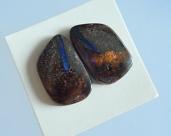 Boulder Opal Freeform Cabochon Pairs,23x15x4mm,6.8g(Cpa112)