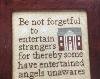 """APRILSALE Twisted Threads """"Angels Unawares"""" by Ruth Sparrow Gendron Counted Cross Stitch pattern"""