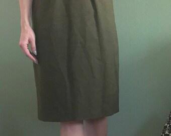 Vintage Olive Green Dress