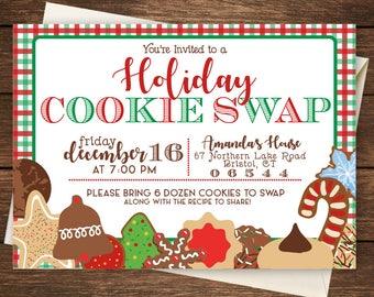 Holiday Cookie Swap Invitation, Cookie Swap Invitation, Cookie Swap, Christmas Cookie Swap Invitation-Cookie Swap-Christmas Party Invitation