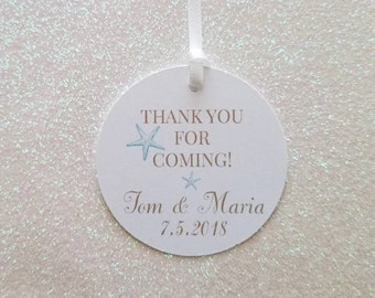 BEACH STARFISH Wedding Favor Tag *Beachy Favor Tag *Starfish Favor Tags *Destination Thank You Favor Tags  *PERSONALIZED