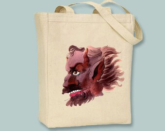 Ancient Demon Astaroth on Canvas Tote with shoulder strap - Selection of  sizes available