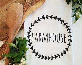 Farmhouse - Farmhouse Style - Farmhouse flour sack towel - Farmhouse Tea Towel -