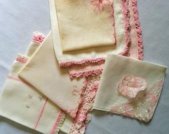 Vintage Pink Handkercheifs