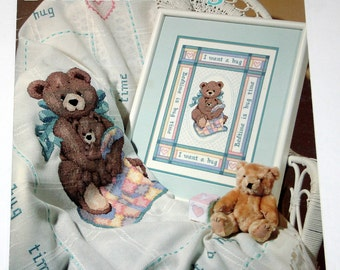 Bedtime is Hug Time Cross Stitch Pattern Book by Leisure Arts