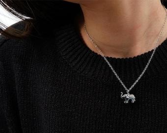 elephant necklace, elephant necklace mom and baby, elephant necklace sterling silver, elephant necklace silver, elephant jewelry
