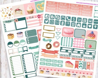 Mini Printable Planner Stickers, Happy planner and Mini Happy planner bakery
