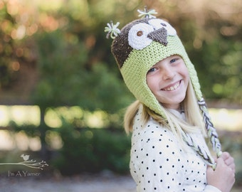 Owl Hat, Baby Girl, Newborn Hospital Hat, Baby Boy, Baby Beanie, Cute Hat, Beanie Hat, Halloween Hat, Fun Hat, Crochet Hat, Winter Beanie