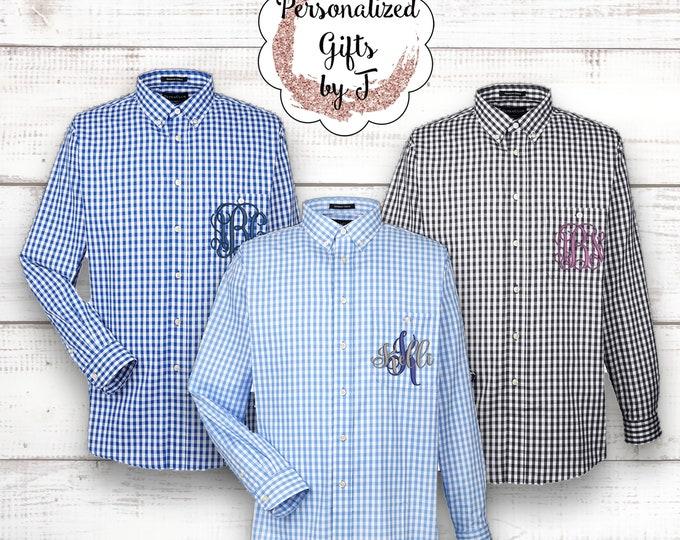 Bridesmaid Shirt, Getting Ready Shirt, Monogrammed Button Up Shirt, Personalized Oversized Shirt, Monogram Bridesmaid Shirt, Bridal Party