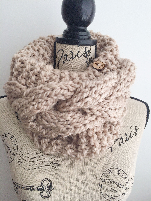 KNIT PATTERN, Braided Bae Cowl knit pattern, knitting cowl pattern ...
