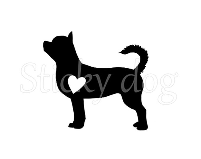 shorthaired Chihuahua silhouette sticker