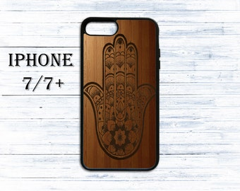 Hamsa hand on wood patternphone cover - phone case for iPhone 4/4s/5/5s/5c/6/6s/6+/6s+/7/7+/8/8+/X - hamsa case for iphone