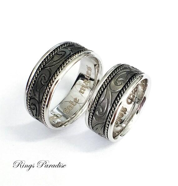 Celtic Knot Ring Celtic Wedding Bands Scottish Ring Unique