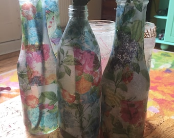 Vases from bottles/upcycling