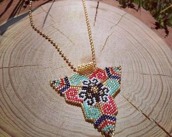 Miyuki necklace- Miyuki beaded- Peyote necklace-