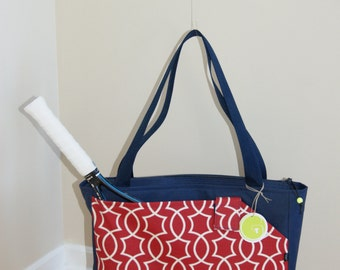 New !! Medium Size Tennis/Racket Bag Made from Water Repellent canvas.MADE TO ORDER