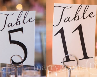 Table Numbers - Fancy Table Number Signs - Perfect for Wedding Reception - Affordable, Simple, Elegant Signage (Set of 10) SS03