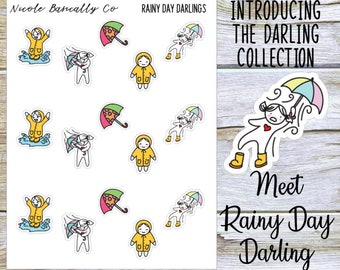Rainy Day Darlings Planner Stickers