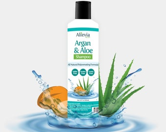 Alievia Argan and Aloe Shampoo - All Natural Shampoo Made in USA, Gift for Him, Gift for Her
