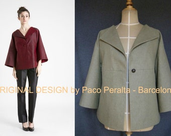 NEW UNIQUE JACKET pattern for plus sizes (bust 40 to 42 inches).-