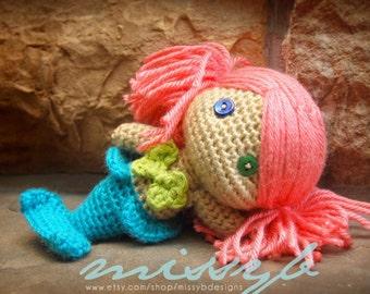 Crochet Mermaid Pattern - Mermaid Doll PDF Pattern - Stuffed Mermaid Toy - amigurumi - Instant Download