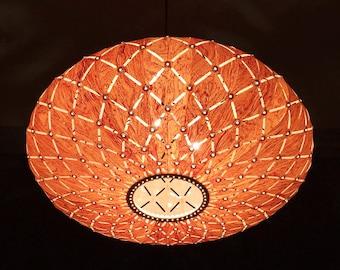Pendant Light,Beautiful Galaxy Pendant Light,Rosewood Veneer,Cut Out Style, Design