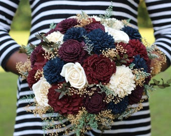 Fall wedding, fall bouquet, winter bouquet, Wedding bouquet, Sola bouquet, bride bouquet, country bouquet, bridal bouquet
