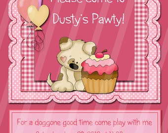 Custom Dog Party Invitation