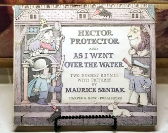 Maurice Sendak, Hector Protector and As I Went Over the Water, Rare Vintage 1st Edition Book w/ Dust Jacket (1965)