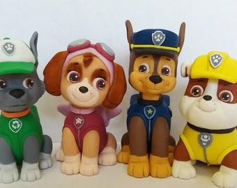 PAW Patrol fondant cake toppers