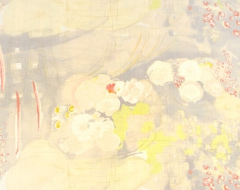 Nani Iro Komorebi - Japanese Fabric - Kokka Fabric - Double Gauze - Spring Yellow Watercolor Floral - Naomi Ito