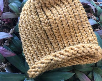 Golden Rod Baby Beanie