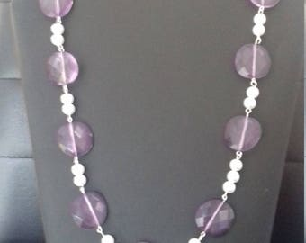 Necklace with a pair of earrings matching, fantasy, original, handmade for women.