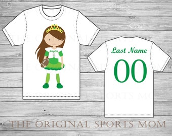 Personalized Football/Sport One Piece and/or Tees! Football Character Jersey! Great as a Birthday Gift and/or to watch the game with Daddy!
