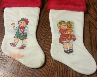 Vintage Cabbage Patch Plush Christmas Stockings