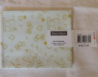 I Love sewing Jade soft cotton fabric coupon