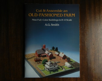 Old Fashioned Farm to Cut and Assemble ~ 1983 ~ H-O Scale buildings ~ Circa 1875-1925