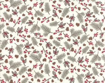 Return to Winter's Lane Taupe 13171 12 by Kate & Birdie Paper Co for Moda Fabrics - Quilt, Christmas