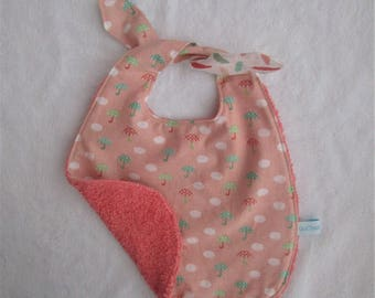 To tie cotton fabric and Terry bib