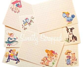 Sweetie Pie Journal Cards, Vintage Image Journal Cards, Vintage Children, Cardmaking, Scrapbooking, Project, Life, Smash, Book, Vintage