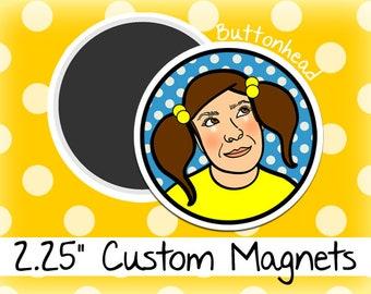 250 Custom Magnets Wholesale Bulk 2.25 Inch (Large) Round