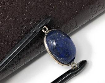 Lapis Lazuli, Gemstone Connector, Lapis Lazuli Connector, Bezel Connector, Jewelry Supplies, Jewelry Making, Jewelry Findings, 26x14.25x7mm