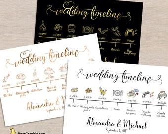 Wedding Timeline Etsy - Wedding invitation templates: free wedding itinerary template